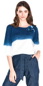 Dámske  Tričko TWINSET -  modrá biela