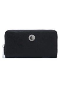 Dámske  Core Large Peňaženka Tommy Hilfiger -  čierna