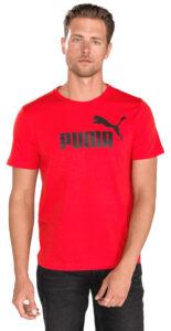 Pánske  Essentials Tričko Puma -  červená