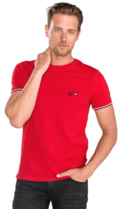 Pánske  Tričko Tommy Hilfiger -  červená