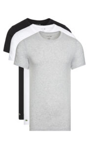 Pánske  Spodné tričko 3 ks Lacoste -  čierna biela šedá