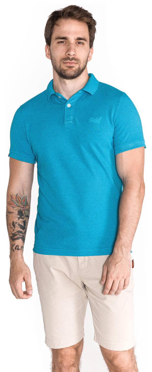Pánske  Polo tričko SuperDry -  modrá