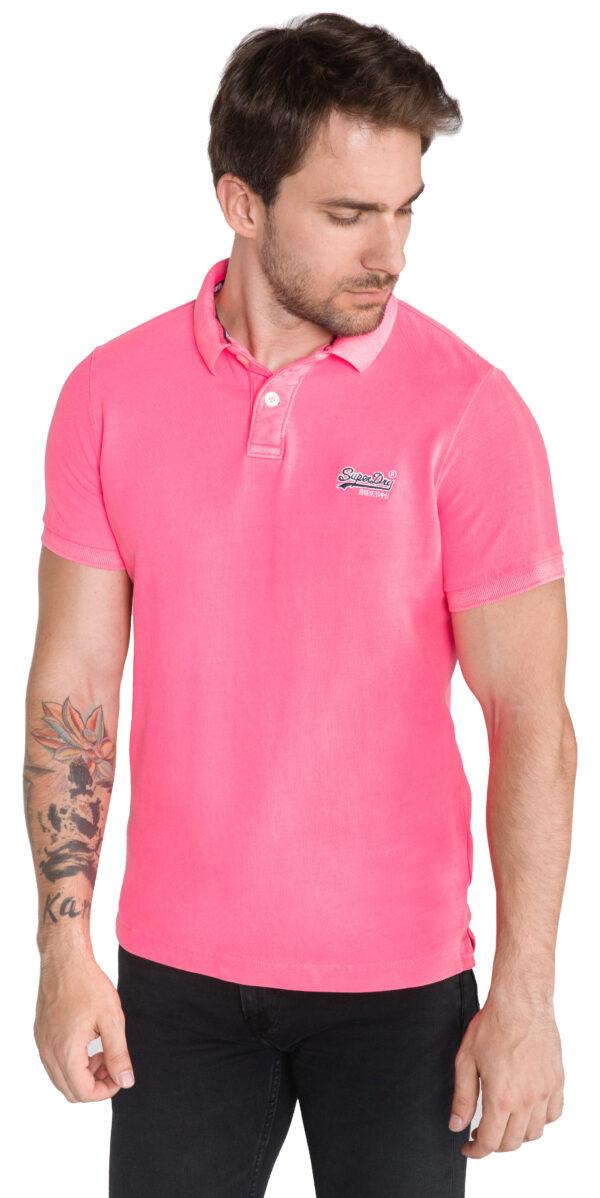 Pánske  Polo tričko SuperDry -  ružová