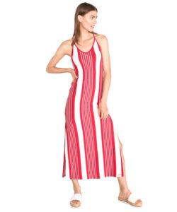 Dámske  Azur Šaty SuperDry -  červená biela