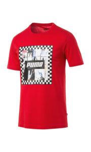 Pánske  Check Tričko Puma -  červená
