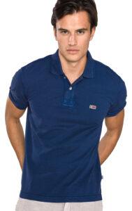 Pánske  Taly Polo tričko Napapijri -  modrá