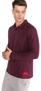 Pánske  Polo tričko Calvin Klein -  červená fialová