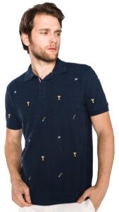 Pánske  Celebrative Polo tričko Tommy Hilfiger -  modrá