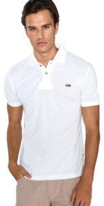 Pánske  Taly Polo tričko Napapijri -  biela