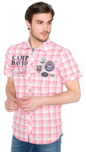 Pánske  Košeľa Camp David -  ružová