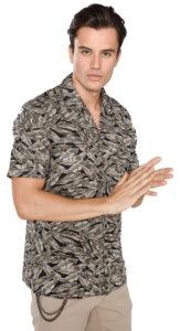 Pánske  Košeľa Antony Morato -  čierna hnedá