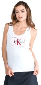 Dámske  Monogram Tielko Calvin Klein -  biela