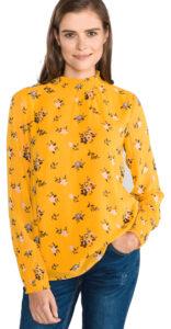 Dámske  Blúzka Tom Tailor -  žltá oranžová