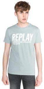 Pánske  Tričko Replay -  modrá šedá