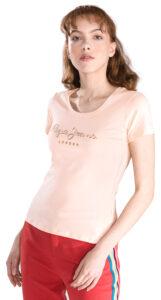 Dámske  Angelica Tričko Pepe Jeans -  ružová