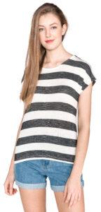 Dámske  Wide Tričko Vero Moda -  čierna biela