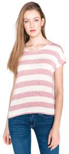 Dámske  Wide Tričko Vero Moda -  biela béžová
