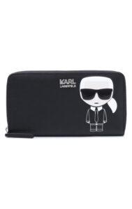 Dámske  Ikonik Peňaženka Karl Lagerfeld -  čierna