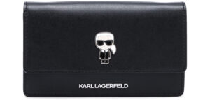 Dámske  Ikonik Listová kabelka Karl Lagerfeld -  čierna