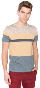 Pánske  Tričko SELECTED -  modrá žltá