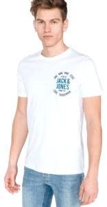 Pánske  Newmark Tričko Jack & Jones -  biela