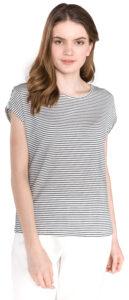Dámske  Ava Plain Tričko Vero Moda -  čierna biela