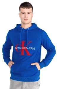 Pánske  Mikina Calvin Klein -  modrá