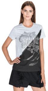 Dámske  Tričko Versace Jeans -  čierna šedá