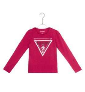 Dievčenské  Tričko detské Guess -  červená ružová