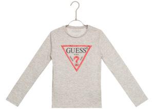 Dievčenské  Tričko detské Guess -  šedá