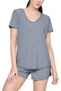 Dámske  Athlete Recovery Sleepwear™ Tričko na spanie Under Armour -  modrá šedá