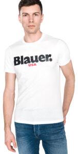 Pánske  Tričko Blauer -  biela