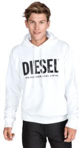 Pánske  S-Division Mikina Diesel -  biela