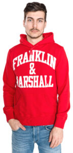 Pánske  Mikina Franklin & Marshall -  červená