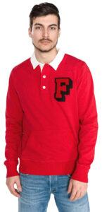 Pánske  Polo mikina Franklin & Marshall -  červená