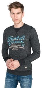 Pánske  Recycle Super Mikina Jack & Jones -  čierna