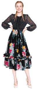 Dámske  Šaty French Connection -  čierna viacfarebná
