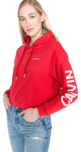 Dámske  Mikina Calvin Klein -  červená