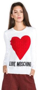 Dámske  Sveter Love Moschino -  biela