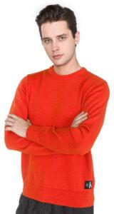 Pánske  Sveter Calvin Klein -  červená oranžová