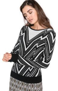 Dámske  Zigga Sveter Vero Moda -  čierna biela