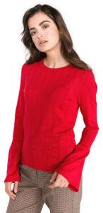 Dámske  Nio Glory Sveter Vero Moda -  červená