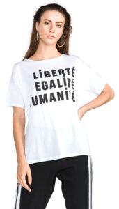 Dámske  Liberte Tričko French Connection -  biela