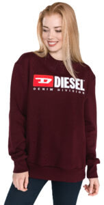 Dámske  Division Mikina Diesel -  červená