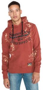 Pánske  Mikina SuperDry -  červená hnedá