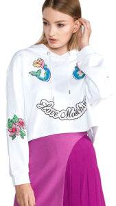 Dámske  Mikina Love Moschino -  biela