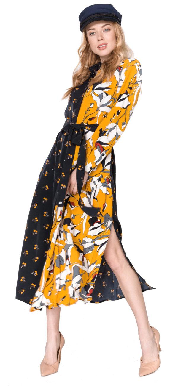 Dámske  Aventine Šaty French Connection -  čierna žltá
