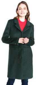Dámske  Boa Kabát SELECTED -  zelená