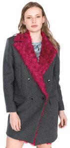 Dámske  Martino 1 Kabát Pinko -  ružová šedá