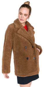 Dámske  Bonnie Teddy Kabát Tommy Hilfiger -  hnedá